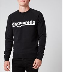 dsquared2 men's classic raglan fit logo sweatshirt - black - xxl