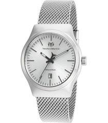 reloj plateado technomarine tm-117017 - superbrands
