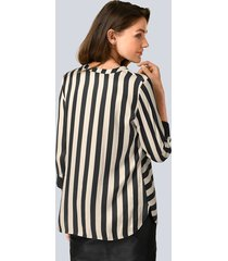 blus alba moda beige::svart