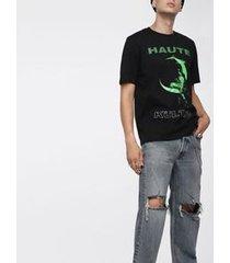 camiseta diesel t-just-sj   masculina preta