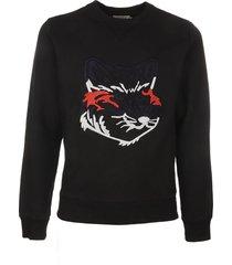 maison kitsuné big fox embroidery regukar sweatshirt