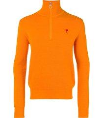 ami ami de coeur trucker pass sweater - orange