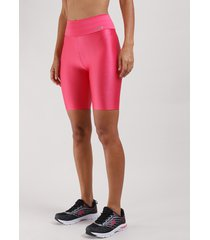 bermuda feminina esportiva ace com textura pink