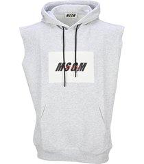 msgm active logo sleeveless hoodie