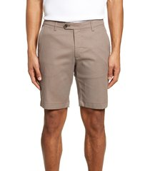 men's ted baker london cortrom slim fit shorts, size 38r - brown