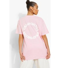 oversized t-shirt met rugopdruk, light pink