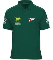 camisa polo fórmula retrô jordan 7up191 1991 verde