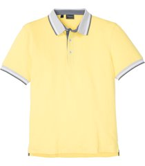 polo basic moderna in piquet elasticizzato slim fit (giallo) - rainbow