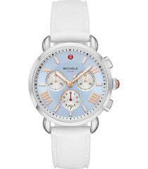 women's michele sport sail chronograph watch head with silicone strap, 38mm