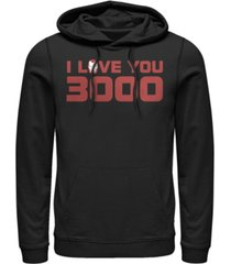 marvel men's avengers endgame i love you 3000 iron man helmet, pullover hoodie