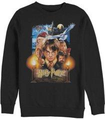 men's harry potter sorcerer's stone poster crew fleece sweatshirt