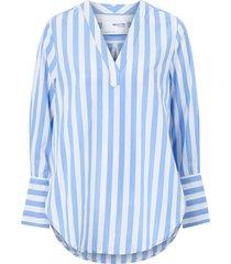 blus slfkelly ls v-neck striped top w