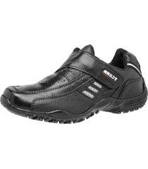 sapatenis tchwm shoes velcro couro preto - preto - masculino - dafiti
