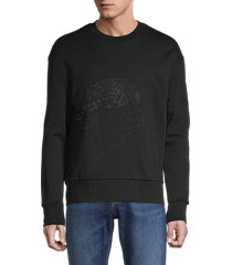 boss hugo boss men's stadler graphic cotton sweatshirt - black - size xxl