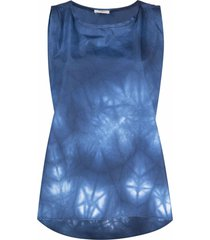 barena nuccia tie-dye print cami - blue