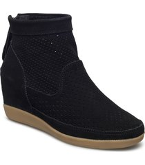 stb-emmy s shoes boots ankle boots ankle boots with heel zwart shoe the bear