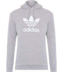 blusa masculina moletom hoodie - cinza