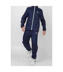 agasalho nike sportswear nsw ce trk suit wvn basic azul-marinho