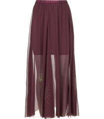 transparante rok met strass steentjes lana  paars