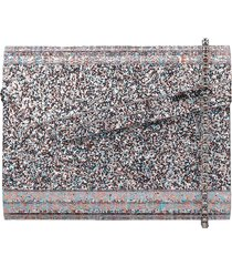 jimmy choo candy clutch in silver acrylic