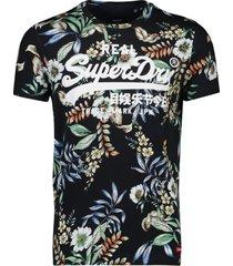 superdry t-shirt zwart hawaiian