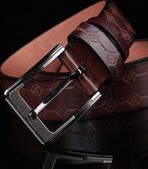 125cm uomo causale con fibbia ad ago cintura cinturino con fibbia ad ardiglione in stile europeo americano