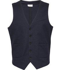 superflex knitted waistcoat kostymväst blå lindbergh