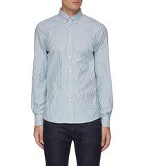panama stripe cotton shirt