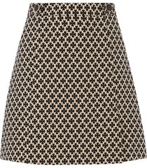 button jacquard skirt