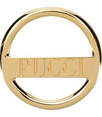 emilio pucci logo-engraved scarf ring - gold