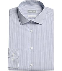 michael kors slim fit dress shirt navy stripe