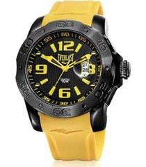 relógio everlast e563 53mm silicone masculino