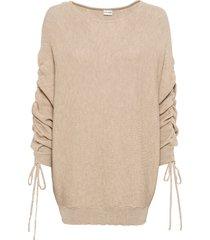 maglione con maniche arricciate (beige) - bodyflirt
