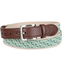 club room men's horseshoe novelty belt, created for macy's