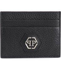 philipp plein statement credit card holder - black