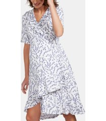 isabella oliver maternity printed wrap dress
