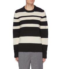 bi-coloured strip sweater