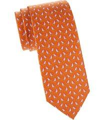 penguin-print silk tie