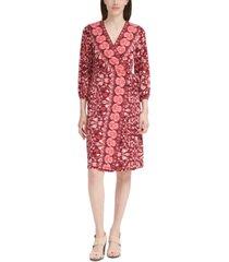 calvin klein printed 3/4-sleeve dress