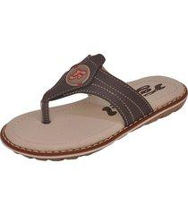 sandália infantil raniel calçados papete chinelo dedo costura café