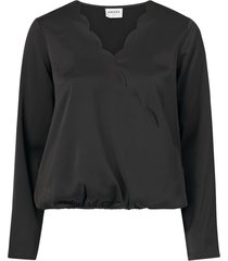 omlottblus vmimportant ls wrap blouse