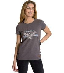 polera mujer w gaba ss t-shirt grafíto merrell