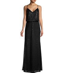 sequin-embellished floor-length gown