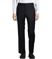 hickey freeman men's dark wool dress pants - navy - size 49 (34) r