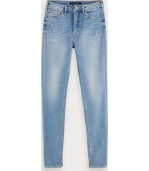 scotch & soda haut - clear sky | high-rise skinny fit jeans