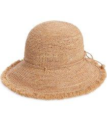 helen kaminski emmie 9 packable raffia hat in nougat at nordstrom