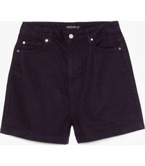 womens out of office denim shorts - black