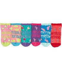 k. bell women's happy hour 6pk ankle socks