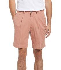 berle charleston pleated chino shorts, size 32 in charleston brick at nordstrom