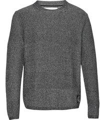 two t cotton cn sweater gebreide trui met ronde kraag grijs calvin klein jeans